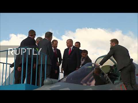 Russia: Putin, Erdogan Tour MAKS 2019 International Air Show