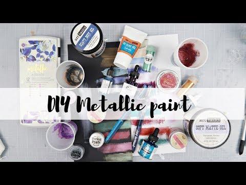 DIY metallic paint | How to make your own metallic paint