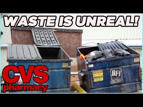 THE WASTE IS UNREAL! DUMPSTER DIVING HAUL! CVS DUMPSTER DIVING JACKPOT! DUMPSTER DIVING FOR FOOD!