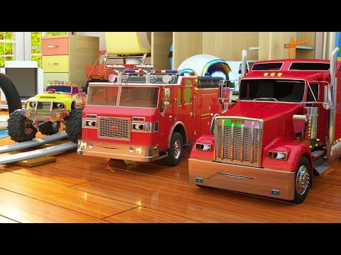 Thumbnail: Learn Colors while Playing with Paint (Max the Glow Train, Jake the Fire Truck and Friends) - TOYS