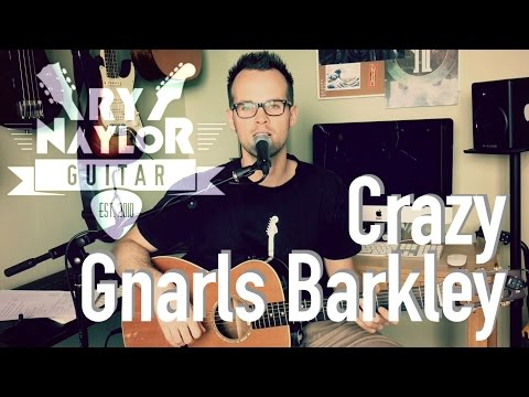 Crazy Guitar Lesson (Gnarls Barkley) Beginner Guitar Song - Easy Acoustic Guitar Tutorial