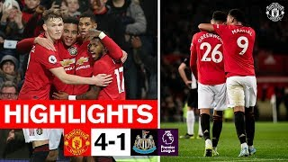 Martial Rashford amp Greenwood fire Reds to win over Newcastle  United 4-1 Newcastle  Highlights