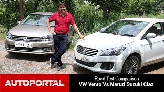 Maruti Suzuki Ciaz Vs VW Vento Test Drive Comparison - Autoportal