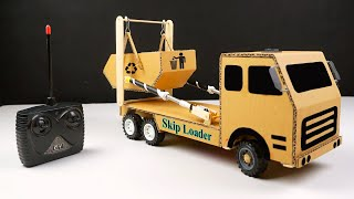 How to make a RC Truck form Cardboard - DIy Radio Garbage Truck