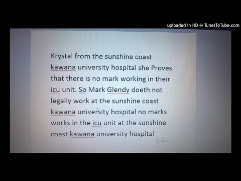Krystal from the sunshine coast kawana university hospital she Proves that there is no mark working