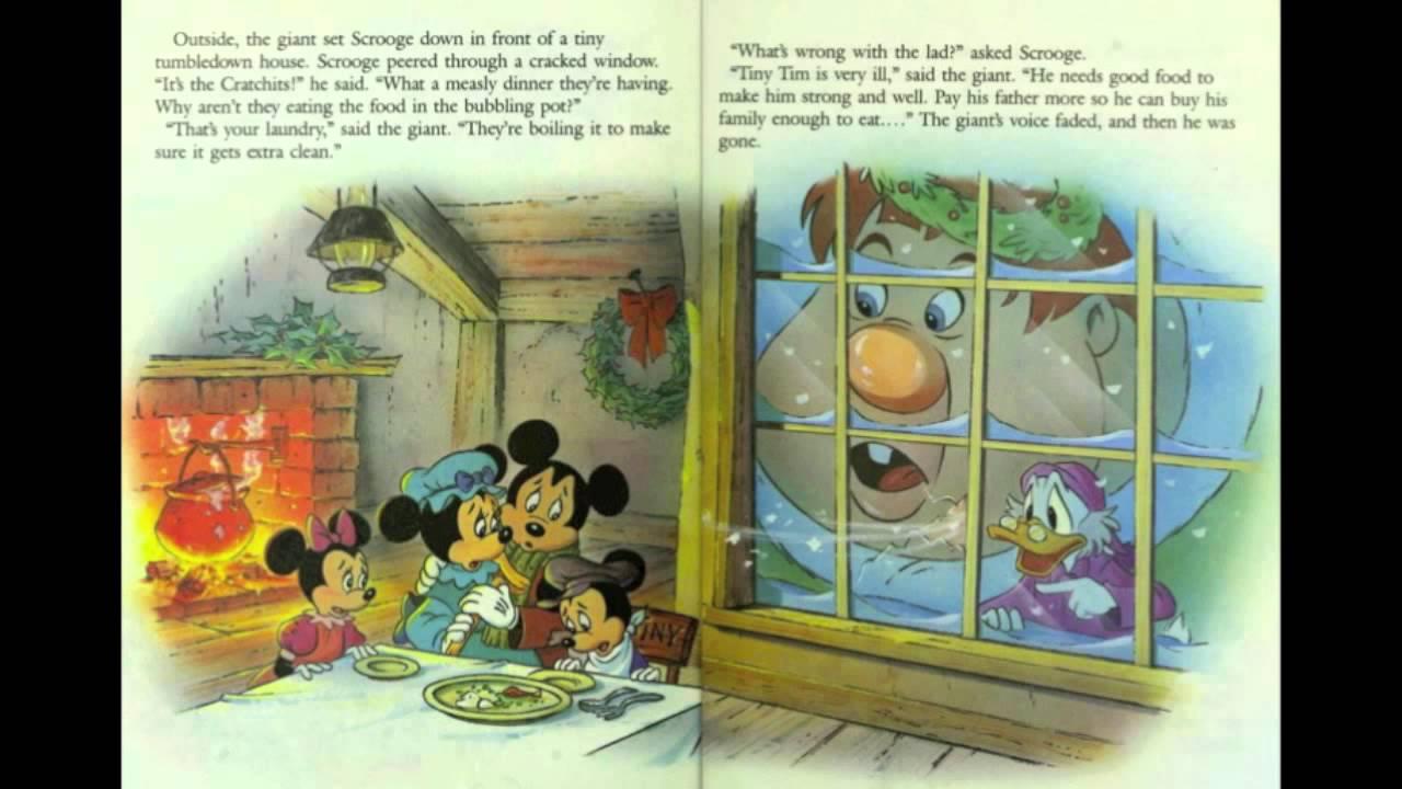 Mickeys Christmas Carol Book.Walt Disney Mickey S Christmas Carol A Little Golden Book