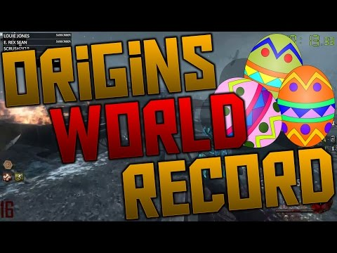 FORMER 'ORIGINS' SOLO SPEED RUN WORLD RECORD 1:00:54 (Call of Duty Black Ops 2 Zombies)
