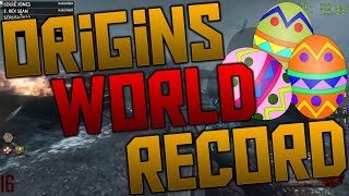 NEW 'ORIGINS' SOLO SPEEDRUN WORLD RECORD 1:00:54 (Call of Duty Black Ops 2 Zombies)