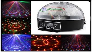 dj disco ball 20w magic rgb led remote control music laser party bulb