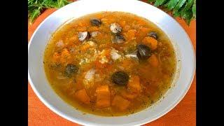 Рецепт супа с грибами и красной чечевицей | Постный суп в скороварке