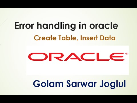 How to insert and retrive data on a table  using oracle SQL