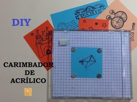 Carimbador de Acrílico, como fazer? (Acrylic Stamping Tool) - DIY - VIDEO