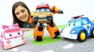 Видео для детей: #Игрушки РОБОКАР ПОЛИ. Toy Club - Робокары #Поли и #Эмбер ищут Робокара МАРК