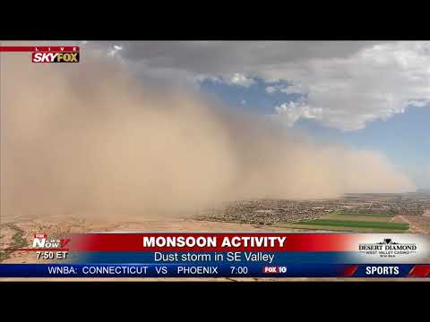 BREAKING WEATHER: Dust storm, Monsoon activity hit southeast Valley (FNN)