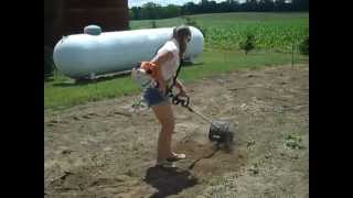 Kimmie workin the STIHL KM130R (among other things) PLEASE SUBSCRIBE!!