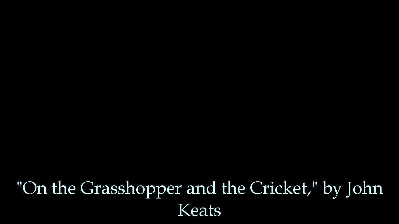 on the grasshopper and the cricket by john keats