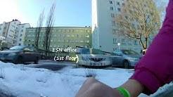 Turku.  From Student Village Foundation (Yo Kyla) to Posti (Eerikinkatu) on a bicycle