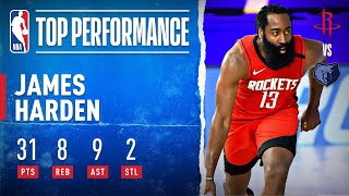 Harden Leads Rockets With 31 PTS, 8 REB, 9 AST& 2 STL!