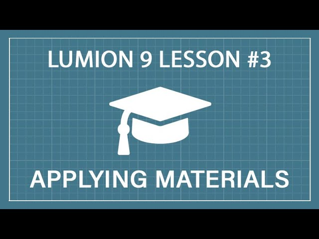 How to Apply and Modify Materials: Lumion 9 - 3D Render Tutorial