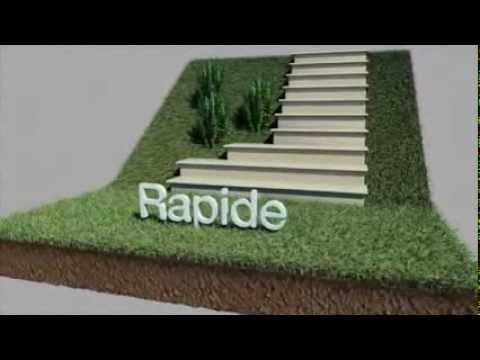 Modulesca gradino modulare e scala regolabile da giardino youtube - Scala da giardino ...