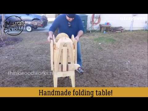 Izzy Swan's Awesome DIY Table Made From Wood For 4