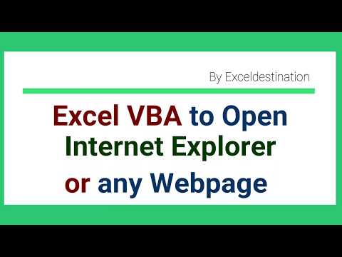 VBA To Open Internet Explorer Or Web Browser Or Website