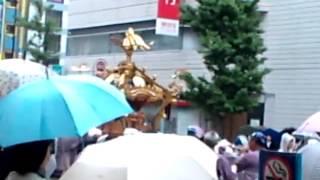 Kanda festival in Akihabara in the rain.