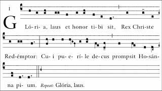 Gloria, Laus Gregorian Chant