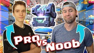 KING'S CHEST OPENING in this PRO VS NOOB Challenge - FT OXALATE - Clash Royale - INSANE