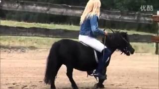Woman rides tiny pony PART 2