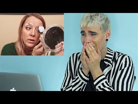 Thumbnail: HAIRDRESSER REACTS TO JENNA MARBLES BLEACHING HER EYEBROWS FAIL! | bradmondo