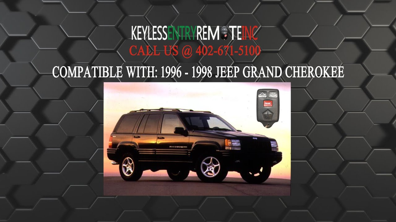 How To Replace Jeep Grand Cherokee Key Fob Battery 1996 1998 Youtube