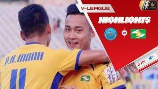 Highlights | Sanna Khánh Hòa BVN - SLNA | Tuấn Tài rực sáng với cú đúp đẹp mắt | VPF Media