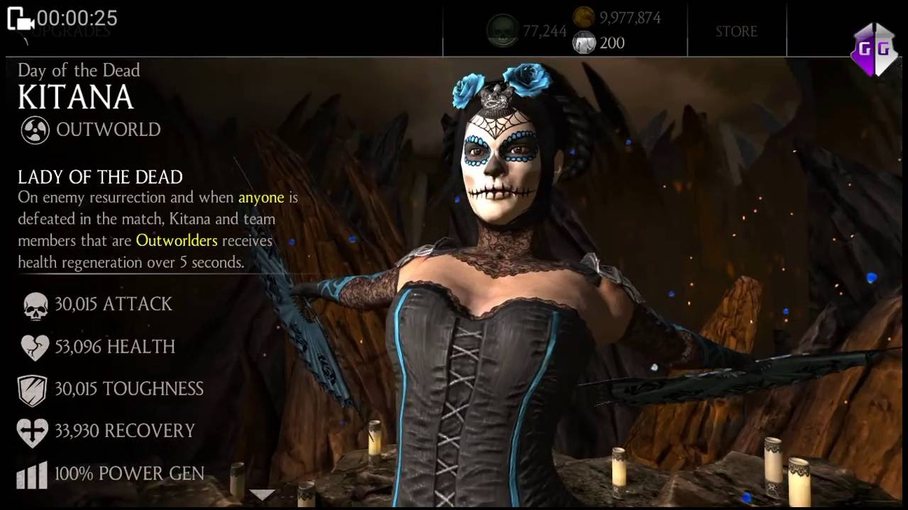 day of the dead kitana maxed out game play youtube