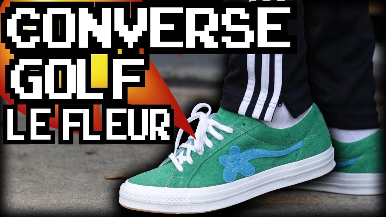 Tyler The Creator X Converse Golf Le Fleur On Feet Youtube
