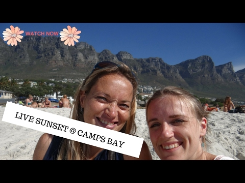Capetown Live sunset, Camps bay, table mountain, lion's head and more