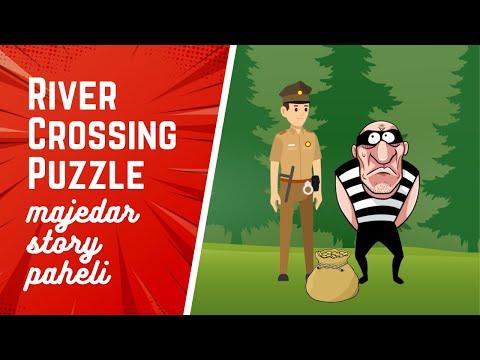 😂 River Crossing Puzzle in Hindi   Majedar Story Paheli   Paheli #2   Dabung Girl   Twist ke sath