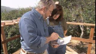 Instructions for building a slatted bench, flanked by two planters for your garden, patio or deck. Visit Ron Hazelton