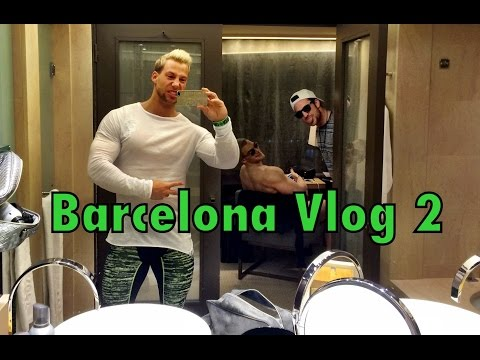 Barcelona Vlog #2 - Training im Hotel Gym und so...