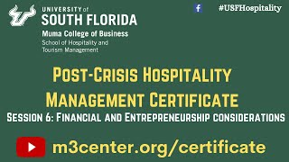 Post-Crisis Hospitality Management Certificate- Session 6