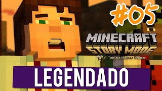 MINECRAFT STORY MODE #05 - FINAL do Episódio 01 - GAMEPLAY EM PORTUGUÊS