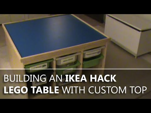 Building An Ikea Hack Lego Table With A