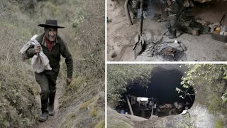 Argentinian 79 y.o man has lived in Cave for 40 years drinking from creek & Eating what he kills