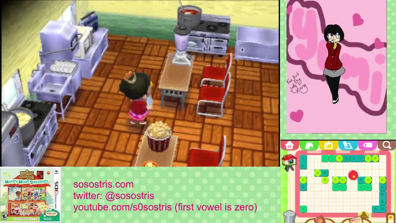 Let 39 s play animal crossing happy home designer 18 part 1 for Interior designs play