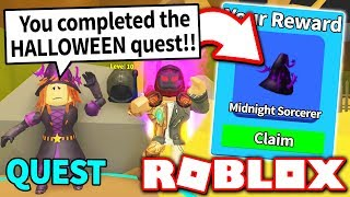 "COMPLETA ""NUOVA"" HALLOWEEN QUEST A UNLOCK LIMITED MYTHICAL HAT in MINING SIMULATOR UPDATE!! (Roblox)"