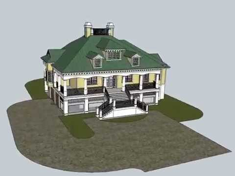 The Montserrat is a Southern tidewater cottage home plan.