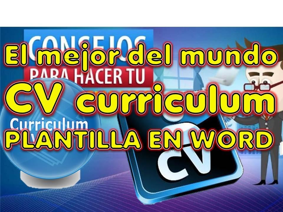 cv CURRICULUM , EL MEJOR DEL MUNDO , hoja de vida , resume ...