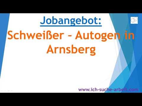 Jobangebot Schweißer - Autogen in Arnsberg
