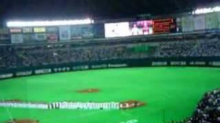 2008年ホークス開幕戦の黒木瞳の国歌斉唱です.