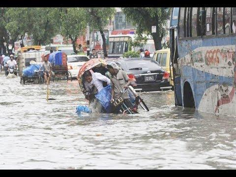 Flood in Dhaka City-2017 [Rain brings miseries to city life]